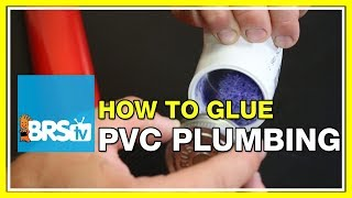 Using PVC cement to bond PVC pipe & fittings - BRStv How-To