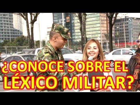 Qué tanto conoce la gente sobre el léxico militar?