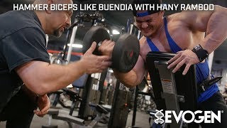 Hammer FST 7 Biceps Like Buendia With Coach Hany Rambod At Bev's