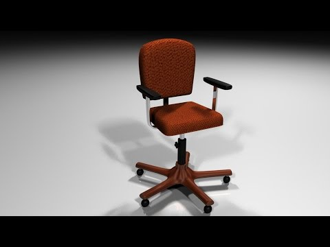Maya tutorial : How to model and rig and Office chair ( Part 1 of 2 )