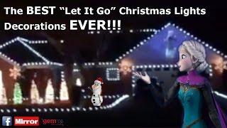 AMAZING Disneyu0027s Frozen Let It Go Christmas House Decorations Light Show