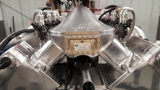 "All-Billet Water-Jacketed 5"" Bore-Space Twin-Turbo DRAG WEEK Engine"