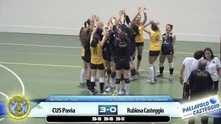 preview picture of video 'Pallavolo Femminile: CUS Pavia vs Rubiosa Casteggio'