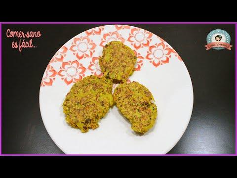 Tortitas de avena rellenas de verduras