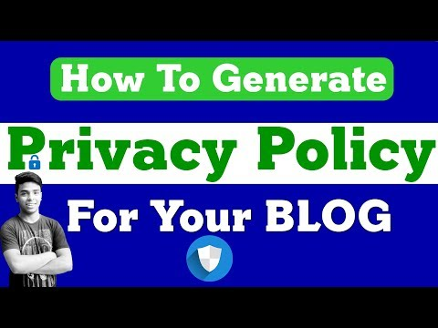 How To Generate Privacy Policy For Your BLOG Mp3