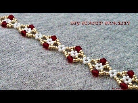 Beaded bracelet, easy pattern. DIY gorgeous beaded bracelet.