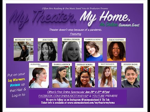 Students perform our first online production of My Theater My Home trailer.  Created during the Covid-19 Shut down.