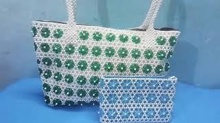 পুতির নতুন ডিজাইনের ব্যাগ এবং পার্স    new design beaded bag and purse •  