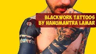 Breathtakingly Beautiful Blackwork Tattoos by Hanumantra Lamar