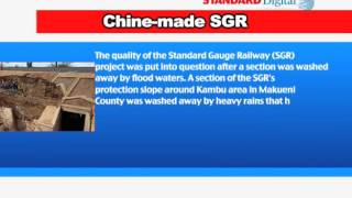 Will the Chine-made SGR stand the test of long rainy season. The railway is already falling apart