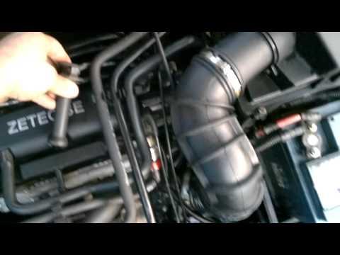 Ob der Wagen wenn wenig Benzin geführt werden kann