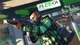 GTA 5 Real Life Thug Mod #18 - ROBBING FLEECA BANKS & LIFEINVADER HEIST!! (GTA 5 Mods Gameplay)