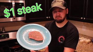 Buying The Cheapest Steak Ever $1 *MrBeast On A Budget*