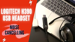 Logitech H390 USB Headset Review   Logitech Headset ClearChat H390 with Noise Cancelling Mic Test