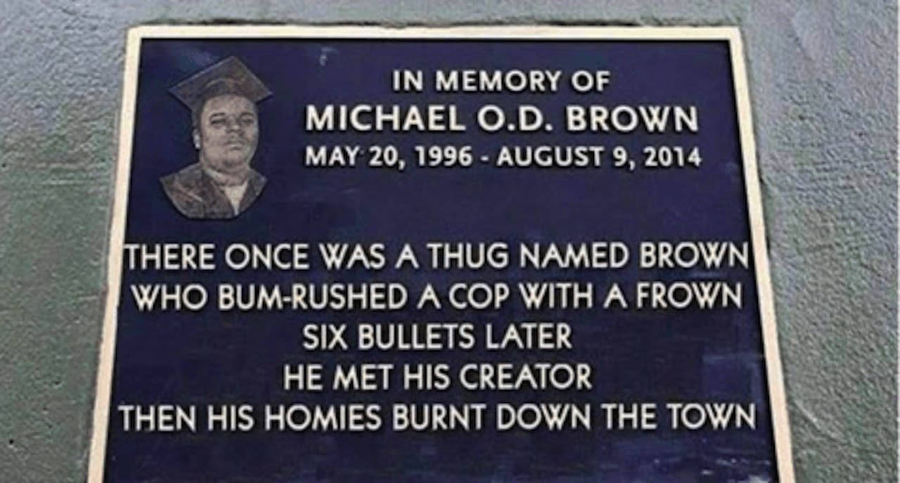 Police Group Reveals Racist Monument To Michael Brown thumbnail