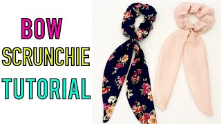 EASY BOW SCRUNCHIE TUTORIAL | DIY HAIR SCARF