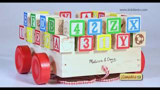 Melissa & Doug ABC & 123 Block Cart unboxing fun | Toys unboxing | For kids | Children | Kiddiestv