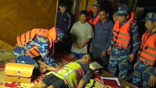 Tin Tức 24h: Vùng cảnh sát biển 1 cứu nạn tàu cá có 8 thuyền viên