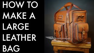 How To Make A Large Leather Bag Diy- Tutorial And Pattern Download