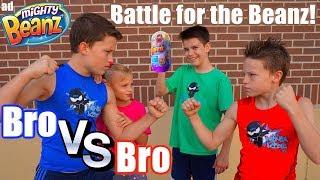 Bro Vs Bro! Impossible Battle For Mighty Beanz! Ninja Kidz TV!