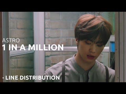 ASTRO - 1 IN A MILLION Line Distribution \ 아스트로