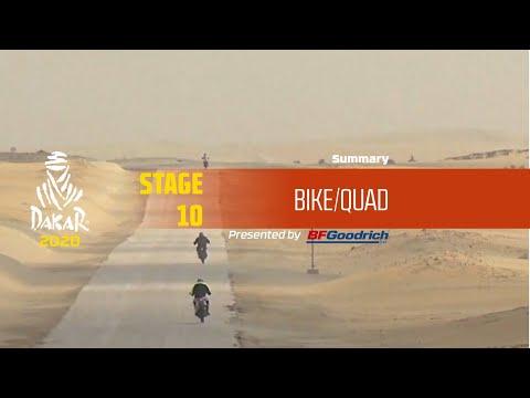【ダカールラリーハイライト動画】ステージ10 バイク部門のハイライト