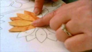Summer Sampler: How To Applique The Sunflower Step Two