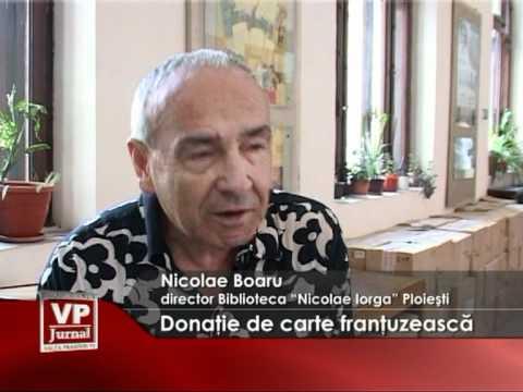 Donatie de carte frantuzeasca