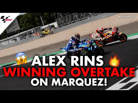 Alex Rins winning overtake on Marc Marquez! | 2019 #BritishGP