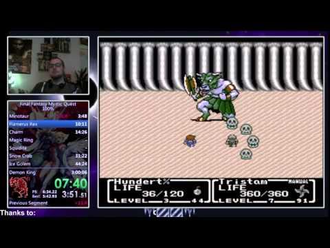 Final Fantasy Mystic Quest 100% Speedrun in 2:51:56