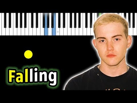 Trevor Daniel - Falling | Piano_Tutorial | Разбор | КАРАОКЕ | НОТЫ + MIDI