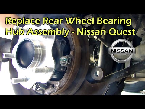Replace Rear Wheel Bearing Hub Assembly - Nissan Quest 04-09