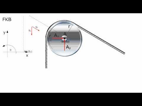 Technische Mechanik - Seilrolle