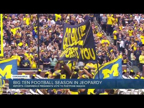 Big Ten football season in jeopardy