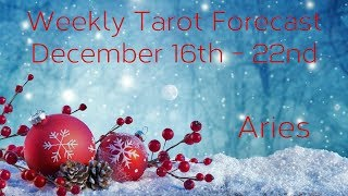 Aries ~ No worries, you are protected! ~ Weekly Tarotscope Dec 16th - 22nd