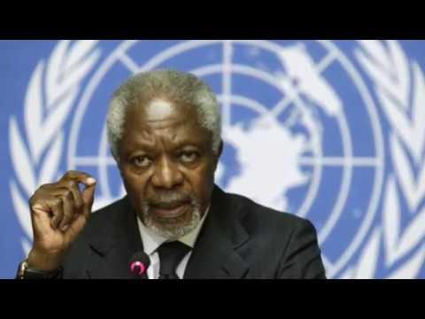 """""""Kofi Annan travaillait pour le meilleur de l'humanité"""""""