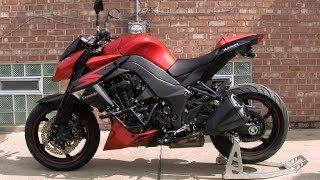 Kawasaki Z1000 Sound & Walkaround - Z1000 Stock Exhaust Sound Test, Full HD 1080p