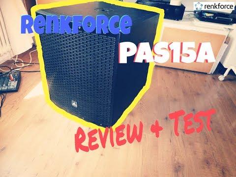 Renkforce PAS15A Aktiver PA-Subwoofer - Review/Test (deutsch/german)