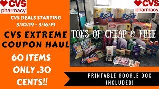 CVS Extreme Coupon Haul Deals Starting 3/10/19~60 Items ONLY .30 Cents Each! Tons of FREE & Cheap❤️