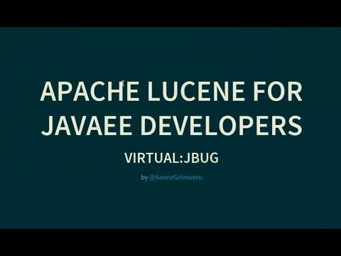Apache Lucene for Java EE developers