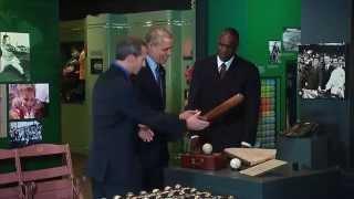 President Obama Tours the Baseball Hall of Fame