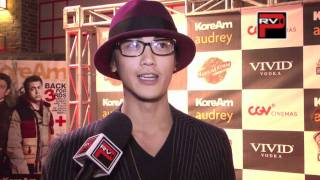 "Jin Akanishi interview at "" Very Harold and Kumar 3D Christmas"" K-Town Premiere"