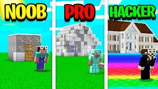 noob vs pro minecraft houses unspeakable - TH-Clip