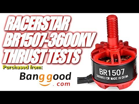 RacerStar BR1507-3600KV Thrust Tests & Overview - Budget Motor for 3\