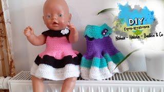 Puppenkleid mit Anleitung häkeln I Puppenkleidung I Puppen I DIY Eigen Kreationen