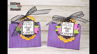 Stampin' Up! Tags Tags Tags All About the Candy Treat Bag Tutorial with Kitchen Table Stamper