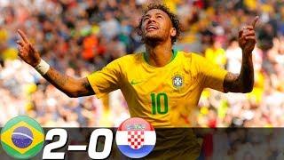 ネイマール復活のスーパーゴール!最強ブラジル快勝!クロアチア代表xブラジル代表ハイライト