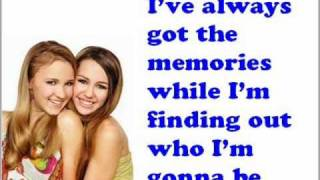Miley Cyrus ft. Emily Osment - Wherever I go lyrics on the screen