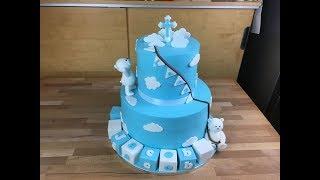 Tauftorte Baptism Cake . تورتة معمودية