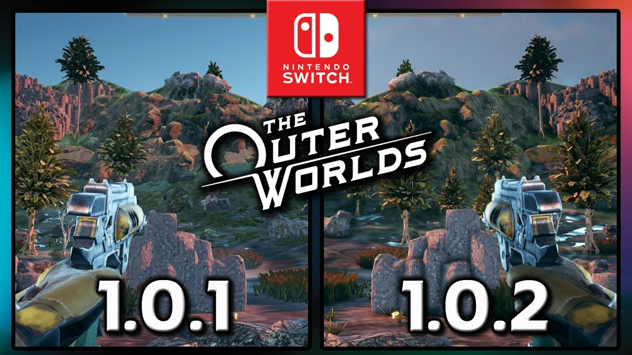 The Outer Worlds for Switch | Patch 1.0.1 vs 1.0.2 |  Graphics Comparison & Frame Rate